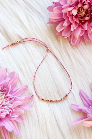 FLOURISH Rose Gold Intention Thread