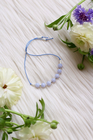 CALM Blue Lace Agate Intention Thread