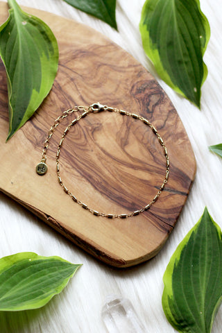 Jungle Moon Gold Anklet