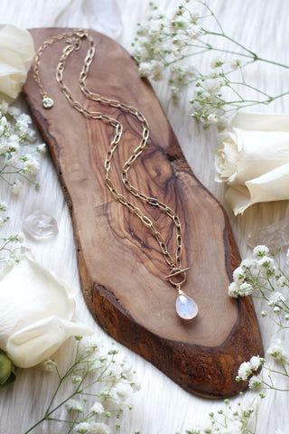 Moonlight Gold Necklace w/ Link Chain *Special Edition*