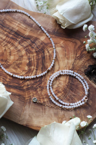 Cosmic Moonstone Choker/Wrap Bracelet {Gold or Silver}