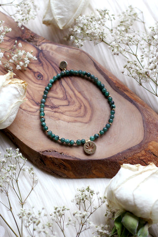 Tiny Emerald Dreams Mala Bracelet {Choose Your Charm}