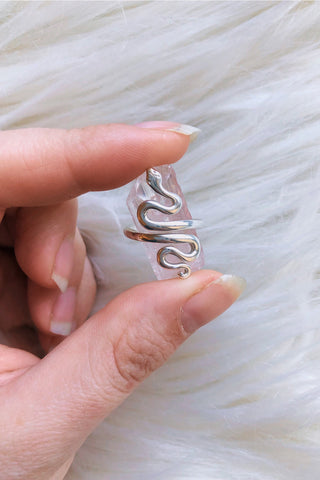 Serpent Rising Sterling Silver Ring