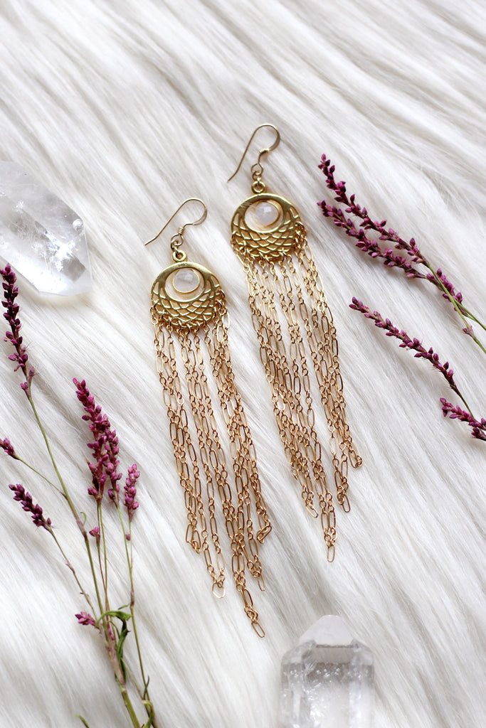 Empress Gold Goddess Earrings