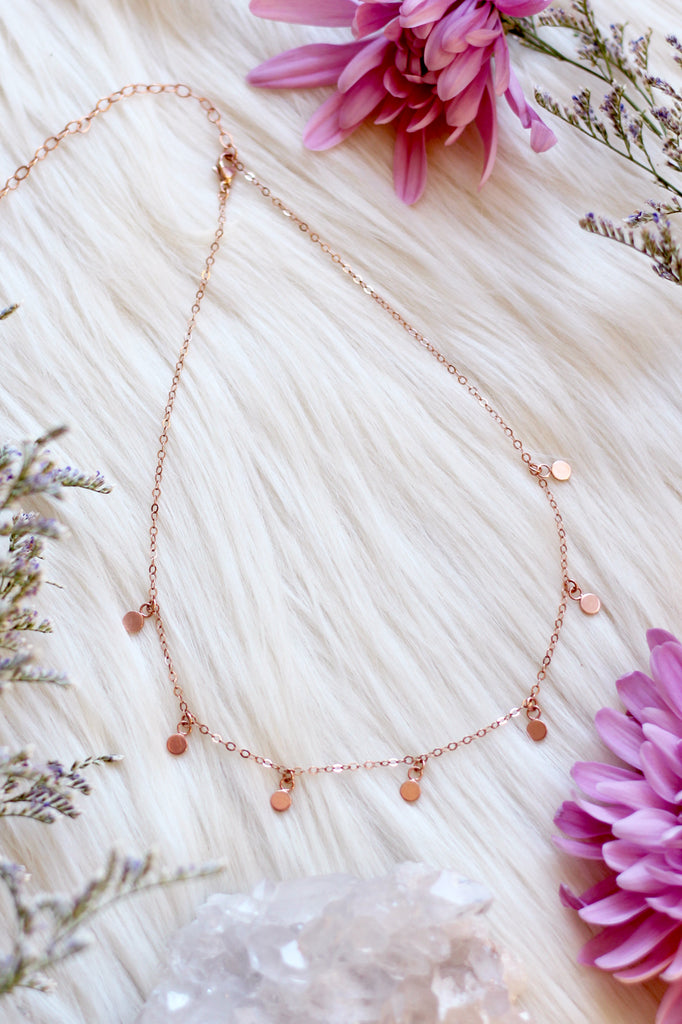 Full Moon Rose Gold Choker