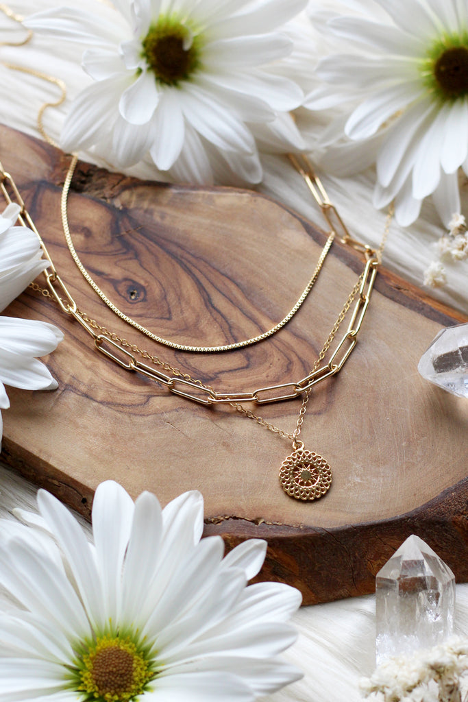 Golden Days Gold Necklace Set {$191 Value}