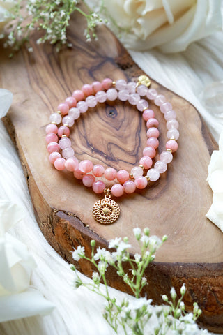 Pink Dreams Mala Bracelet Wrap