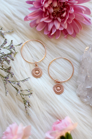 Dreamer Rose Gold Hoop Earrings