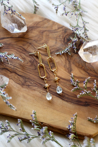 Cosmic Links Gold Earrings
