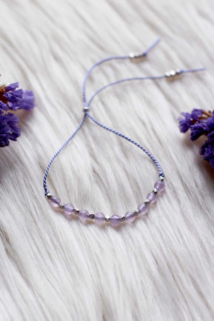 INSPIRE Lavender Amethyst Intention Thread