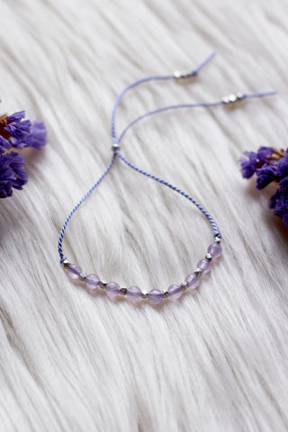 SPIRITUAL Lavender Amethyst Intention Thread