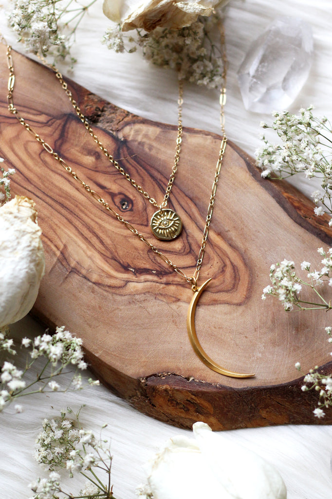Cosmic Journey Gold Necklace Set {$168 Value}