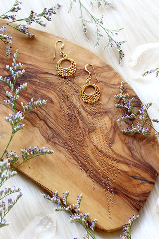 Mystic Gold Huggie Hoop Earrings
