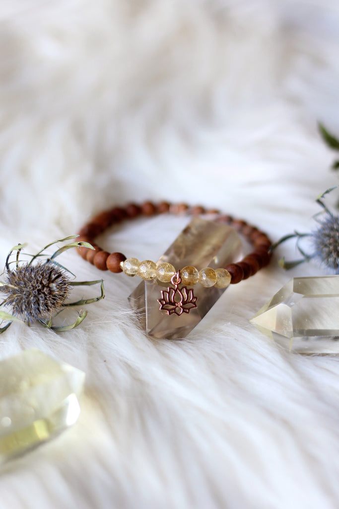 Golden Awakenings Mala Bracelet