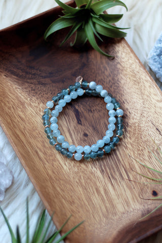 Ocean of Dreams Wrap Mala Bracelet