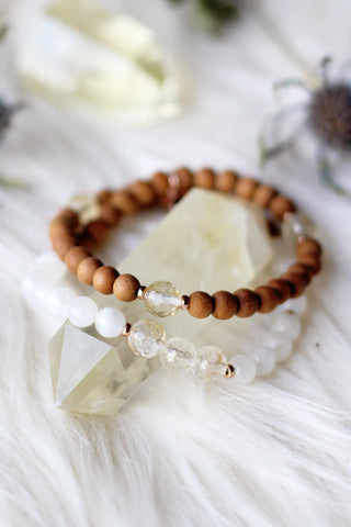 Earth, Sun, & Moon Wrap Mala Bracelet