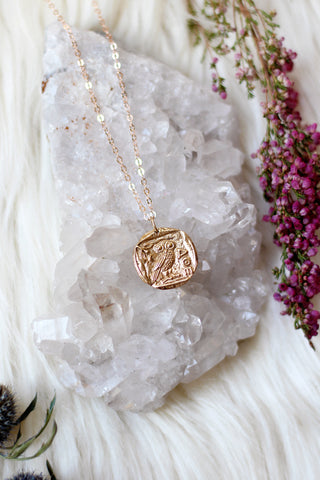 Athena Bronze/Rose Gold Necklace