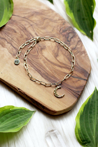 Moonbeamed Gold Anklet
