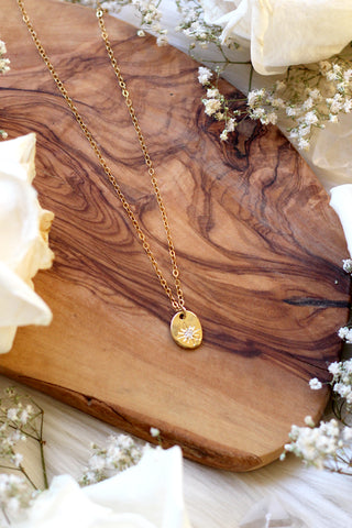 SAMPLE SALE ~ Green Goddess Gold Necklace