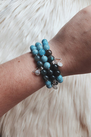 Mermaid :: Pisces Moon Mala Bracelet