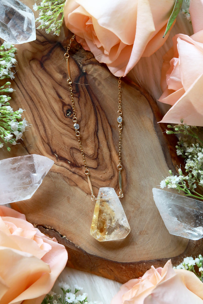 Citrine Radiance Gold Necklace