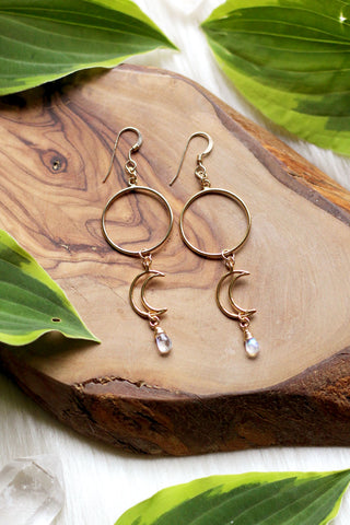 Drops of Neptune Gold Earrings {Short Version}