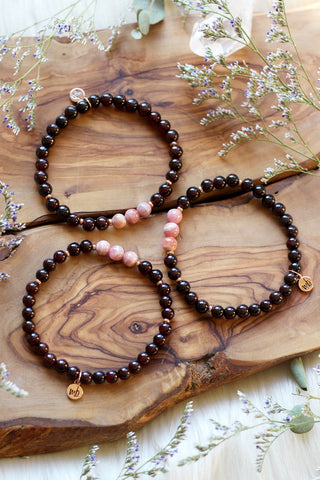 Cosmic Rhodonite Choker/Wrap Bracelet {Rose Gold or Silver}