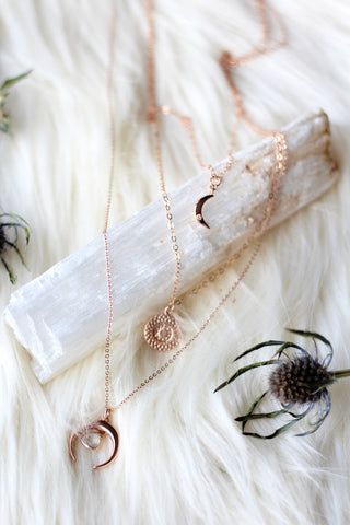 Moonlight Rose Gold Necklace