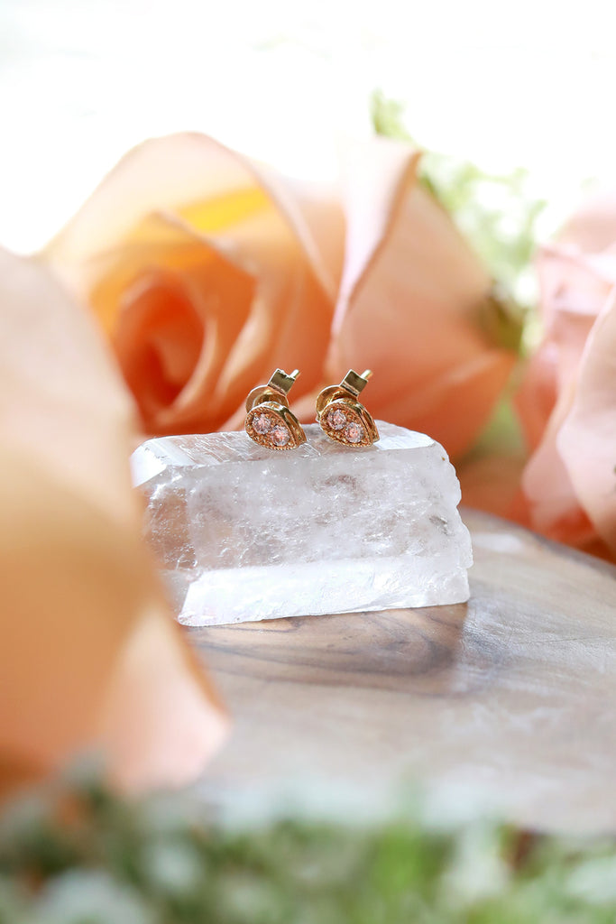 Perfectly Pear Gold Stud Earrings