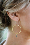 Cosmic Musings Gold Hoop Earrings