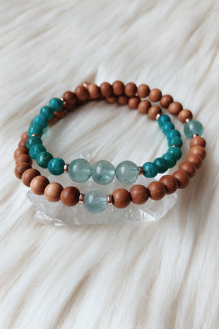 Radiant Warrior Wrap Mala Bracelet