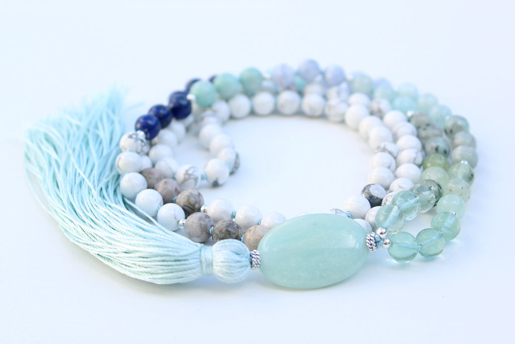 Blue Water Love Mala