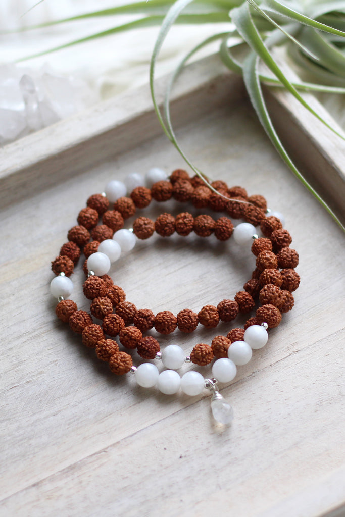 Enlightened Moon Wrap Mala Bracelet