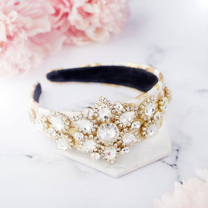 Gold crown hairband for wedding guest and race days