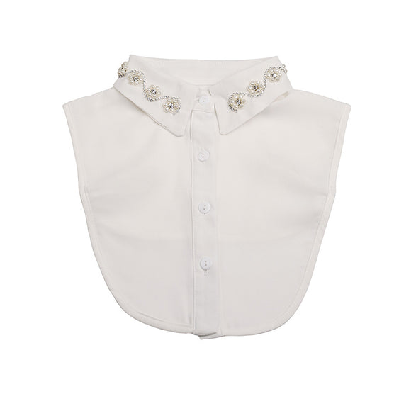 White collar bib for children