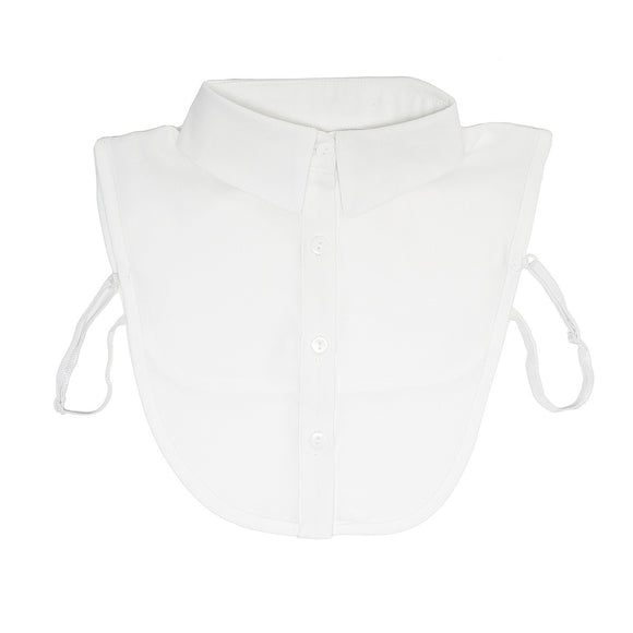 Plain white ladies shirt collar bib