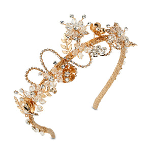 Gold headpiece for wedding
