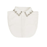 White embellished collar bib for children