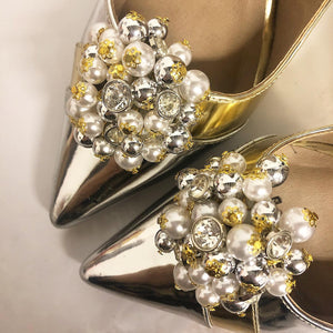 Silver Cluster Shoe Clips