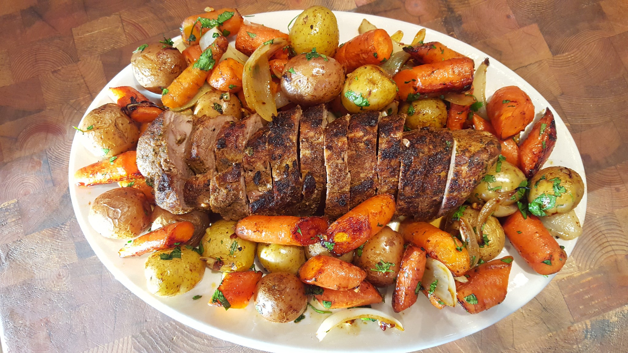 One Pot Pork Tenderloin with Potatoes & Carrots Recipe