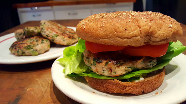 Roasted Jalapeno Chicken Burgers