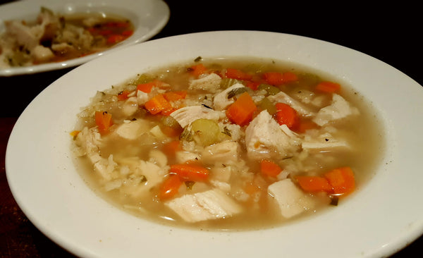 Chicken & Rice Soup Slow Cooker Recipe