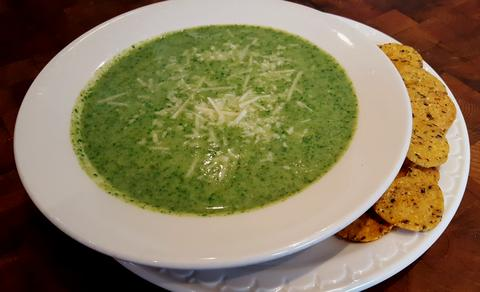 Cream of Broccoli & Spinach Soup Recipe