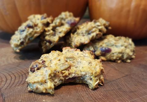 Pumpkin Protein Energy Cookies