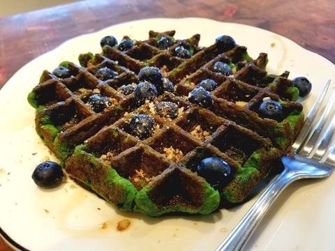 Spinach Waffles Recipe