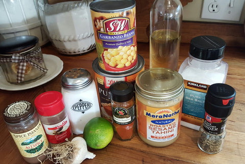Pumpkin Spice Hummus Ingredients