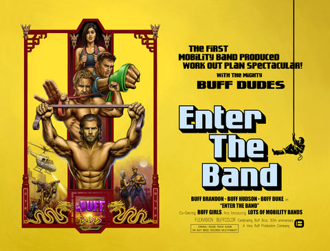 Buff Dudes Enter the Band Mobility Band Plan Poster