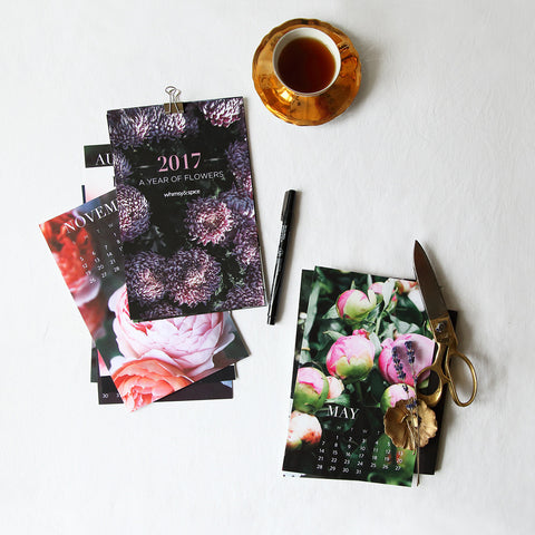 2017 A Year of Flowers Calendar