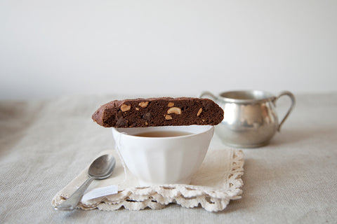 Chocolate Chili Cashew Biscotti