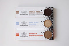 whimsy & Spice shortbread box packaging